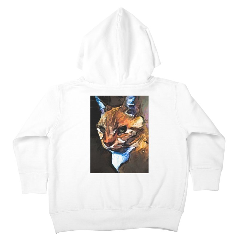 The Gold Cat with the Stage Presence Kids Toddler Zip-Up Hoody by jackievano's Artist Shop
