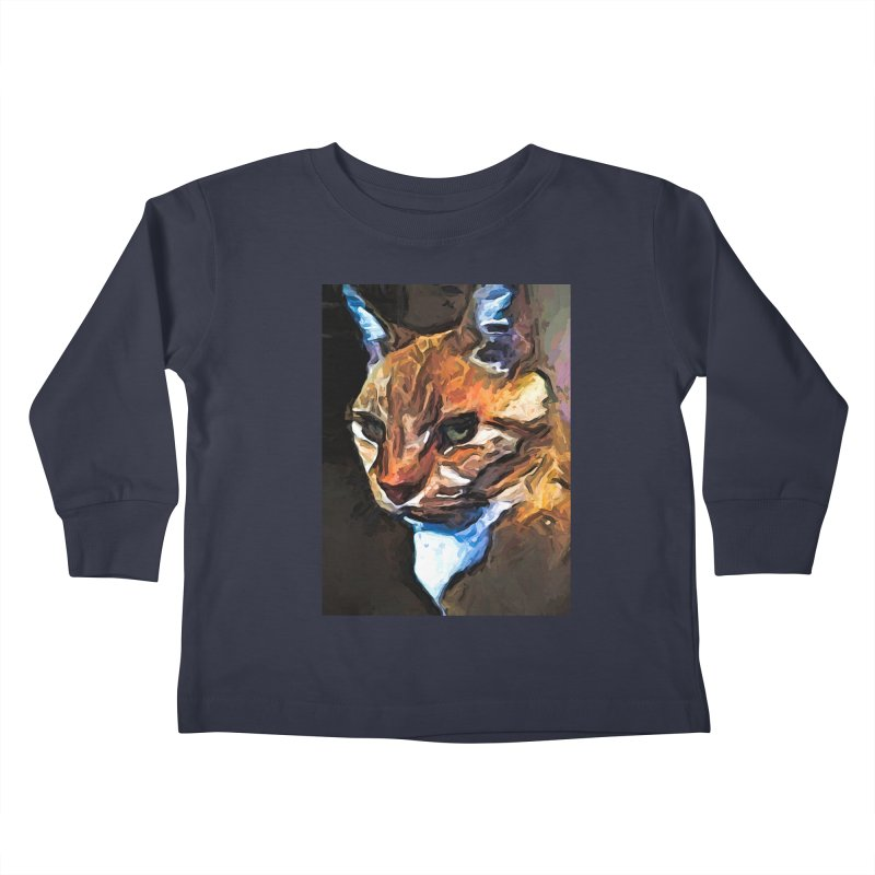 The Gold Cat with the Stage Presence Kids Toddler Longsleeve T-Shirt by jackievano's Artist Shop