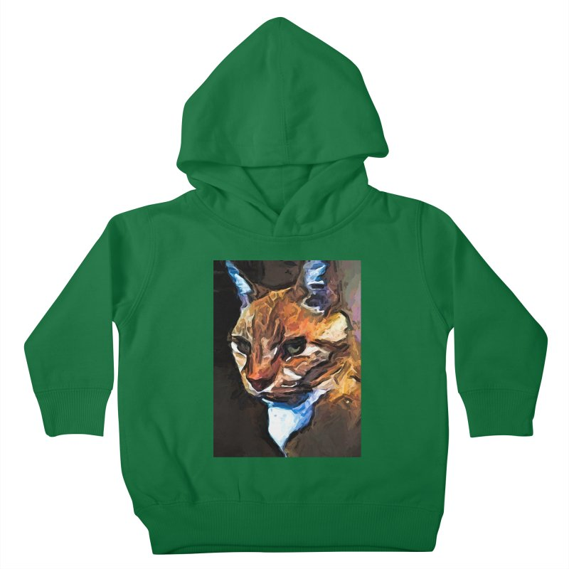 The Gold Cat with the Stage Presence Kids Toddler Pullover Hoody by jackievano's Artist Shop