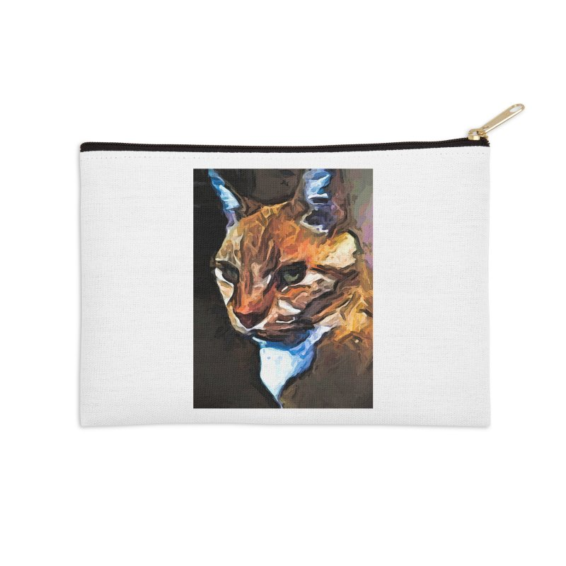 The Gold Cat with the Stage Presence Accessories Zip Pouch by jackievano's Artist Shop