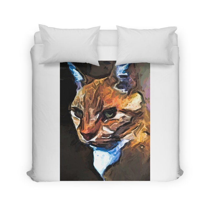 The Gold Cat with the Stage Presence Home Duvet by jackievano's Artist Shop