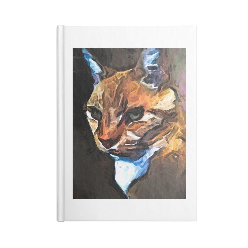 The Gold Cat with the Stage Presence Accessories Notebook by jackievano's Artist Shop