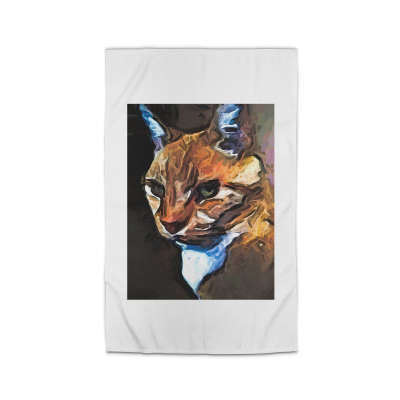 The Gold Cat with the Stage Presence Home Rug by jackievano's Artist Shop