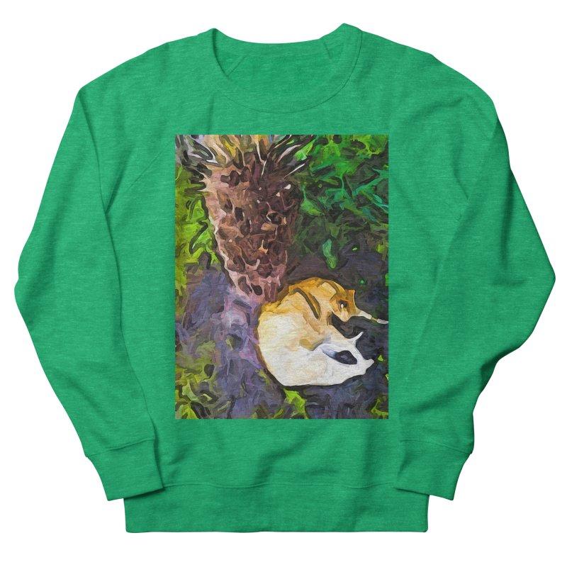 The Sleeping Cat and the Dead Tree Fern Men's Sweatshirt by jackievano's Artist Shop