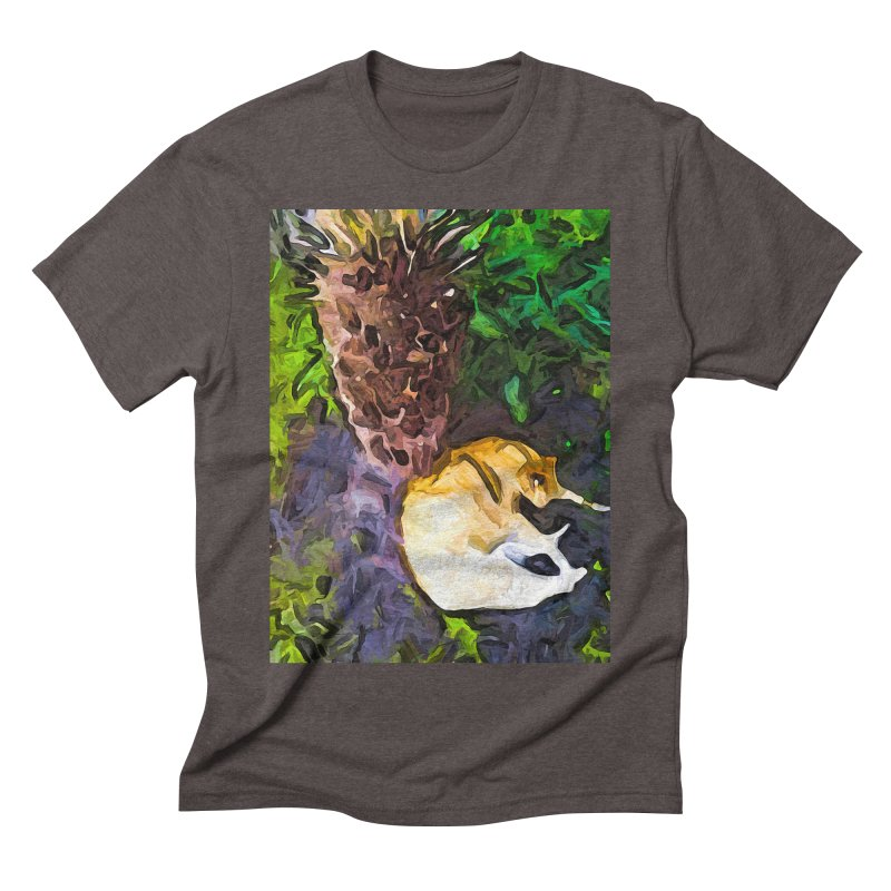 The Sleeping Cat and the Dead Tree Fern Men's Triblend T-Shirt by jackievano's Artist Shop
