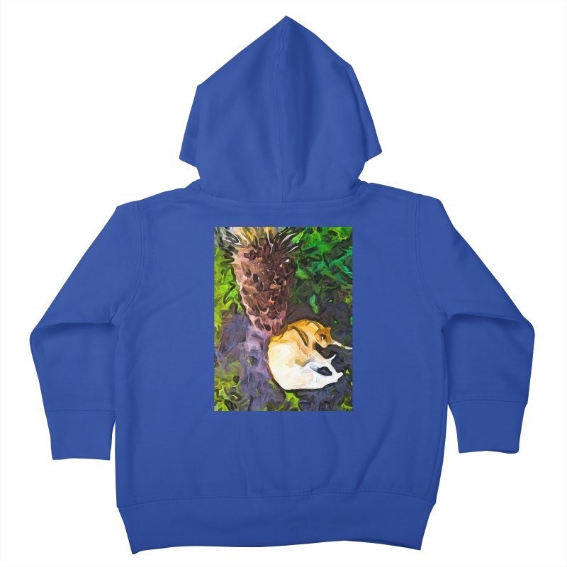 The Sleeping Cat and the Dead Tree Fern Kids Toddler Zip-Up Hoody by jackievano's Artist Shop
