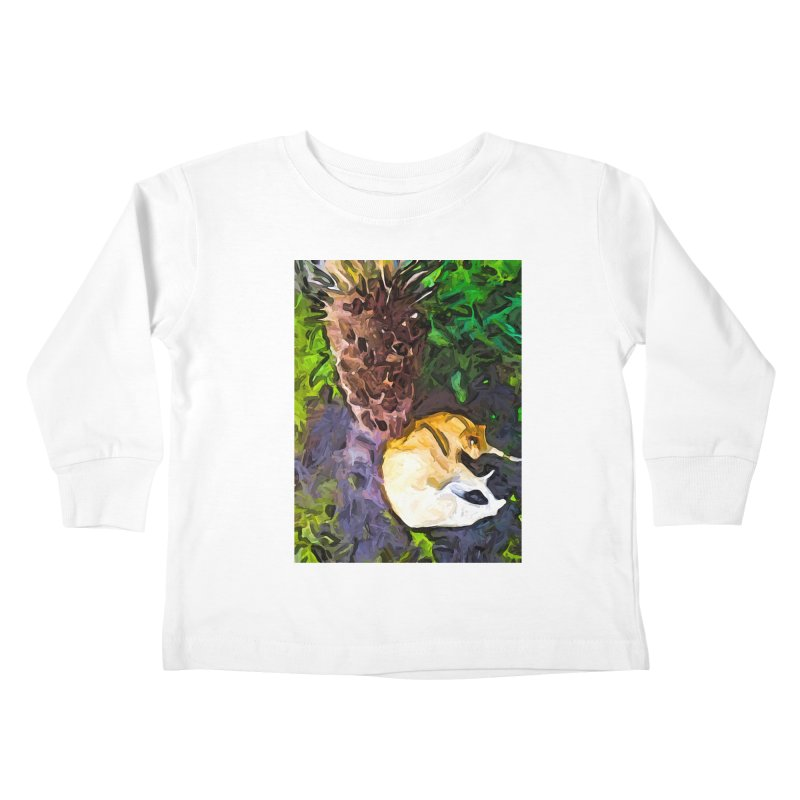 The Sleeping Cat and the Dead Tree Fern Kids Toddler Longsleeve T-Shirt by jackievano's Artist Shop