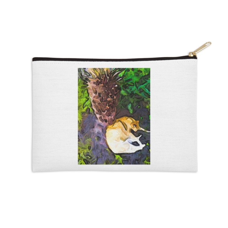The Sleeping Cat and the Dead Tree Fern Accessories Zip Pouch by jackievano's Artist Shop