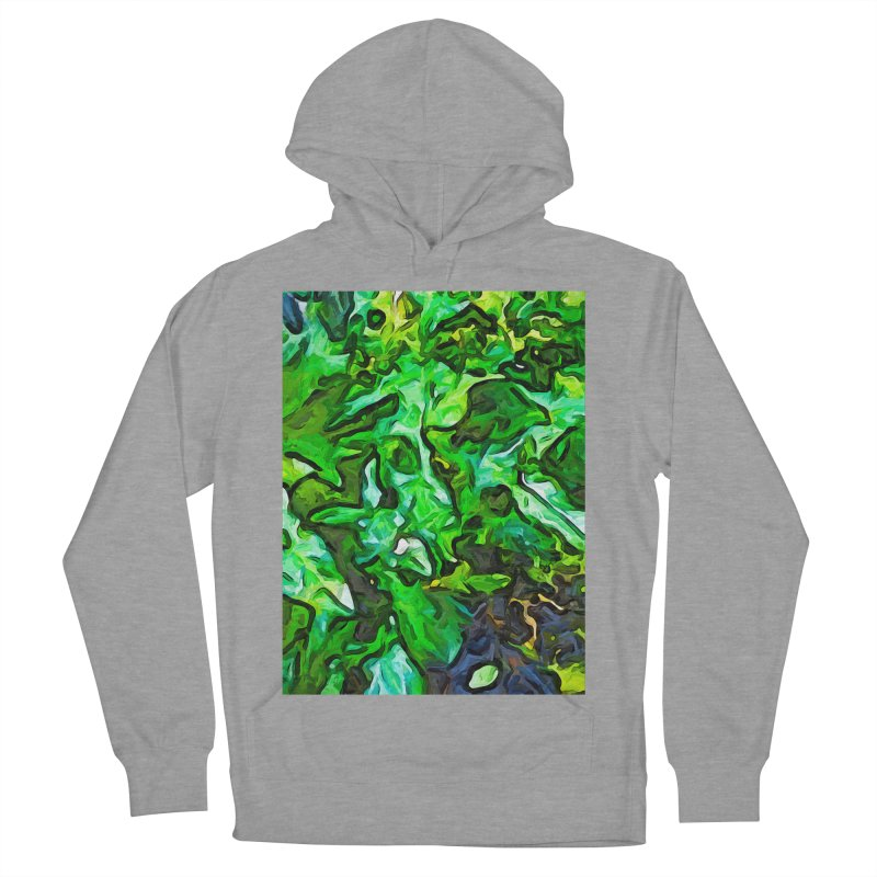 The Tropical Green Leaves with the Wings Women's Pullover Hoody by jackievano's Artist Shop