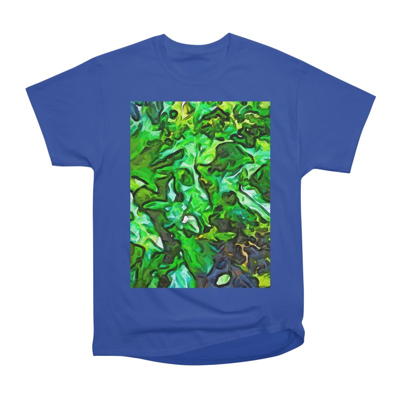 The Tropical Green Leaves with the Wings Women's Classic Unisex T-Shirt by jackievano's Artist Shop