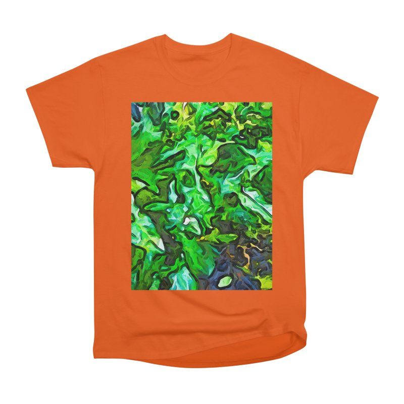 The Tropical Green Leaves with the Wings Men's Classic T-Shirt by jackievano's Artist Shop