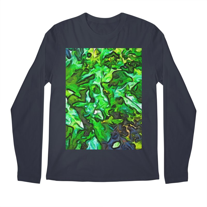 The Tropical Green Leaves with the Wings Men's Longsleeve T-Shirt by jackievano's Artist Shop