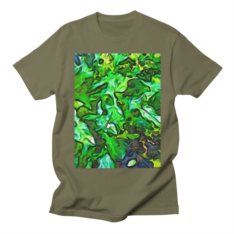 The Tropical Green Leaves with the Wings Women's Unisex T-Shirt by jackievano's Artist Shop