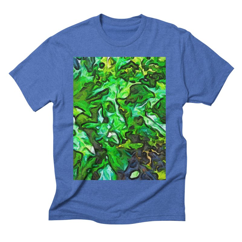 The Tropical Green Leaves with the Wings Men's Triblend T-Shirt by jackievano's Artist Shop