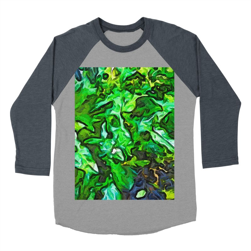 The Tropical Green Leaves with the Wings Men's Baseball Triblend T-Shirt by jackievano's Artist Shop