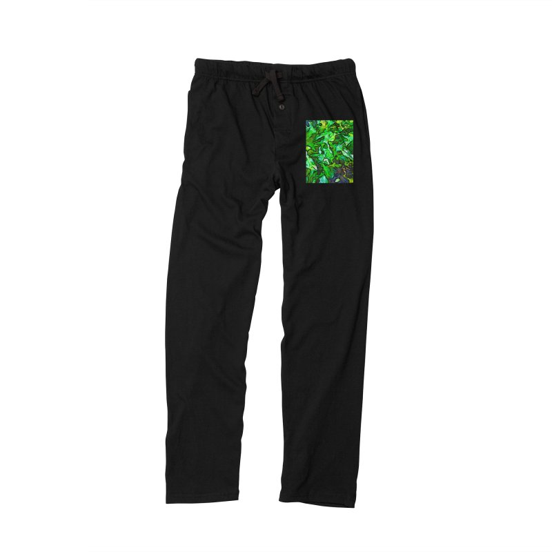 The Tropical Green Leaves with the Wings Women's Lounge Pants by jackievano's Artist Shop