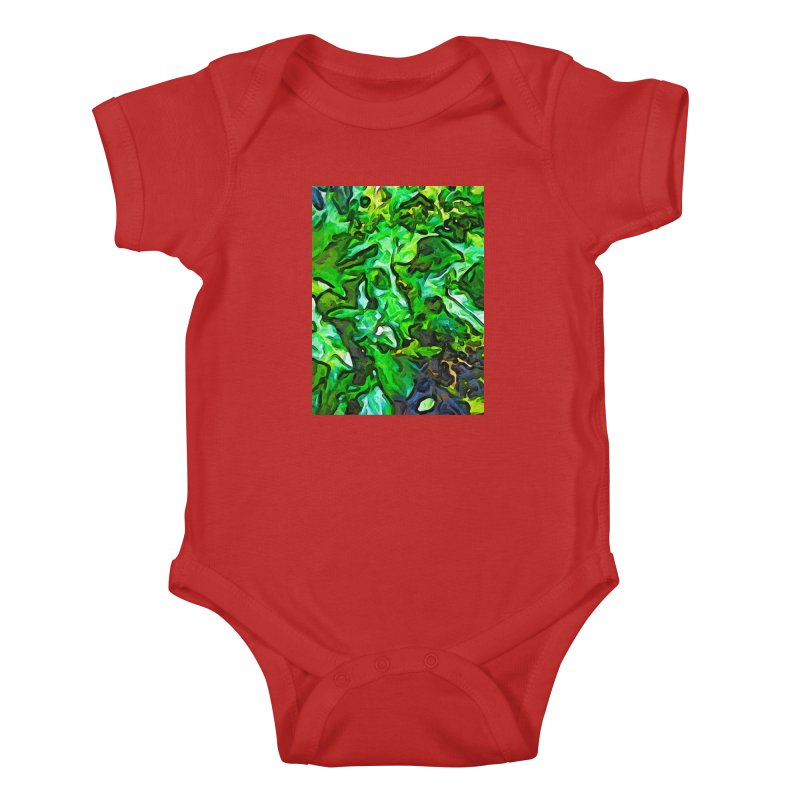 The Tropical Green Leaves with the Wings Kids Baby Bodysuit by jackievano's Artist Shop