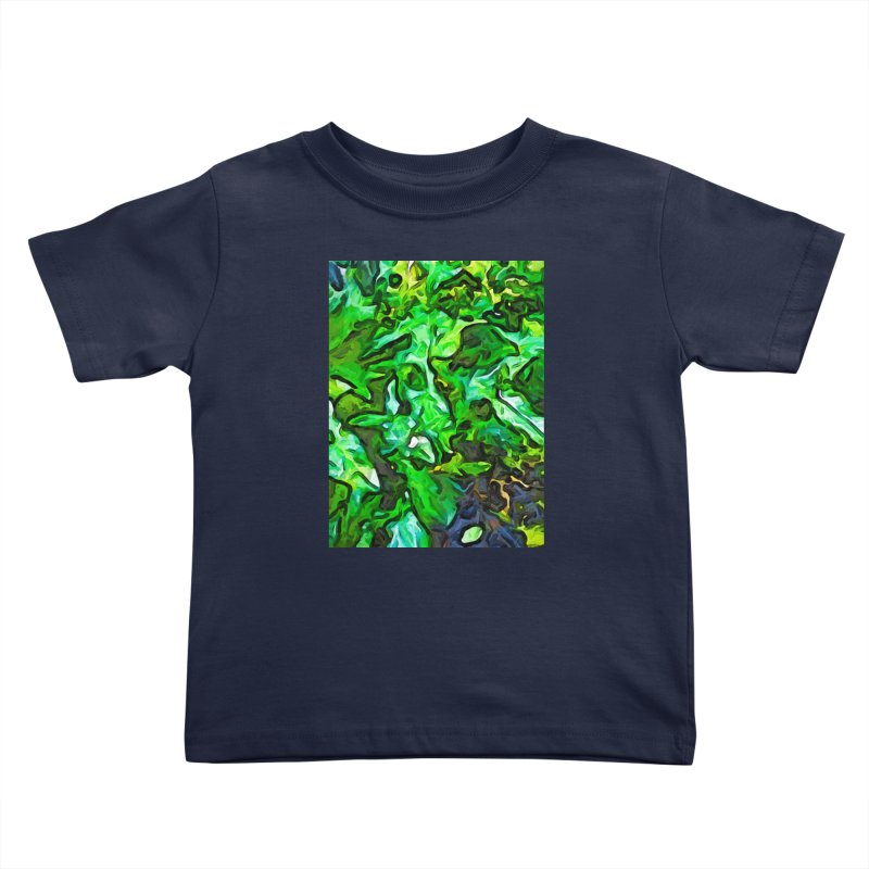 The Tropical Green Leaves with the Wings Kids Toddler T-Shirt by jackievano's Artist Shop