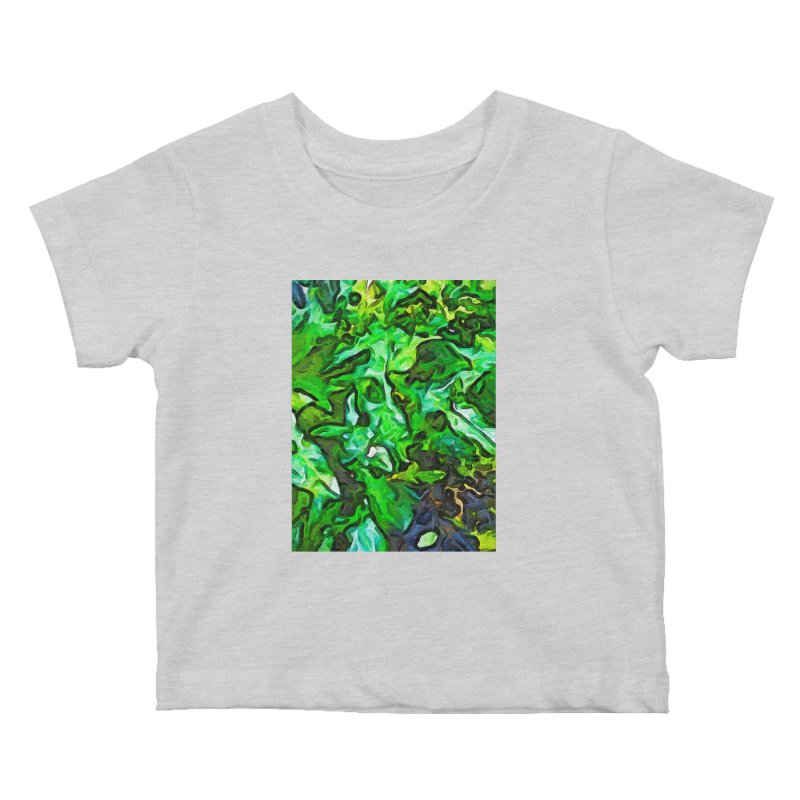 The Tropical Green Leaves with the Wings Kids Baby T-Shirt by jackievano's Artist Shop