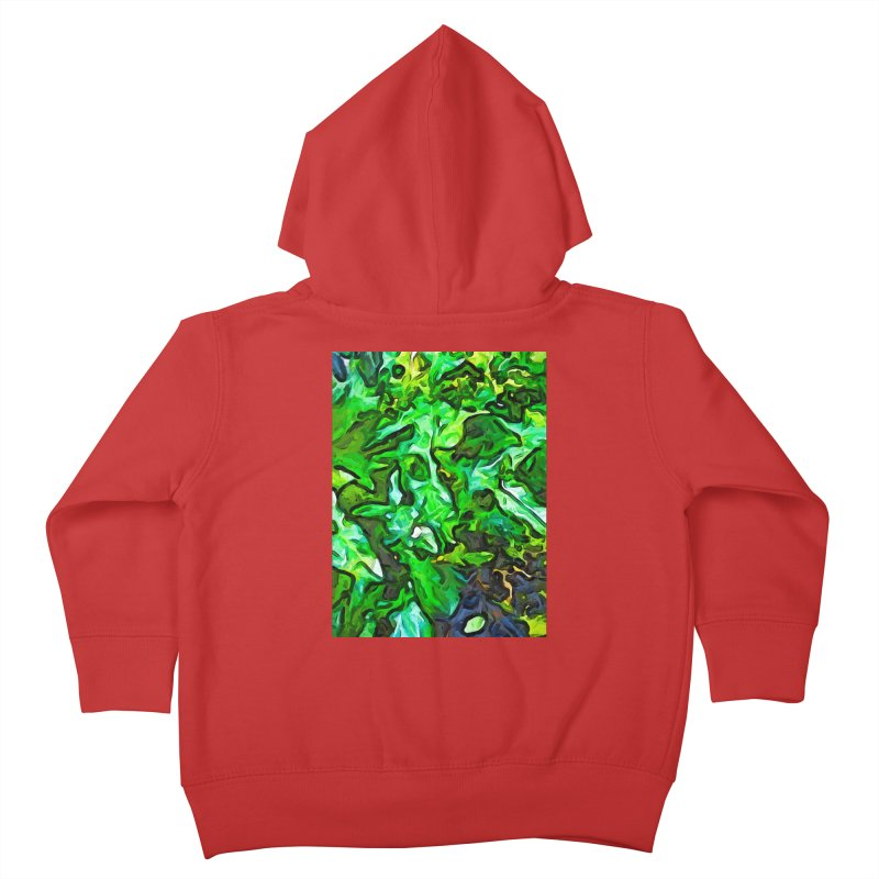 The Tropical Green Leaves with the Wings Kids Toddler Zip-Up Hoody by jackievano's Artist Shop