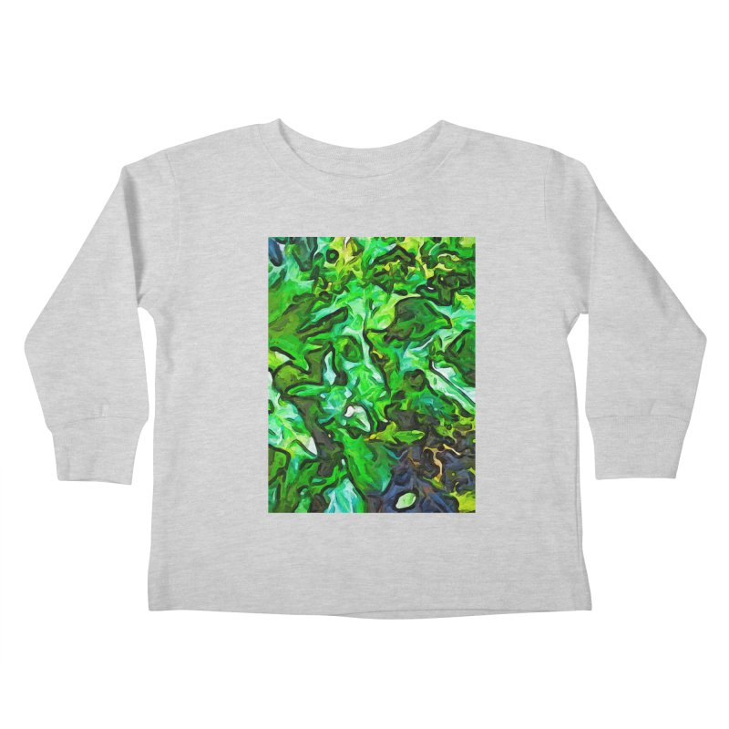 The Tropical Green Leaves with the Wings Kids Toddler Longsleeve T-Shirt by jackievano's Artist Shop