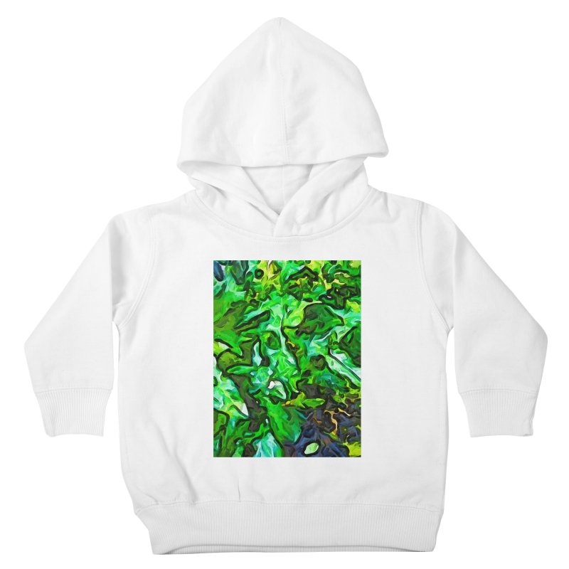 The Tropical Green Leaves with the Wings Kids Toddler Pullover Hoody by jackievano's Artist Shop