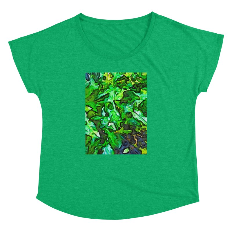 The Tropical Green Leaves with the Wings Women's Dolman by jackievano's Artist Shop
