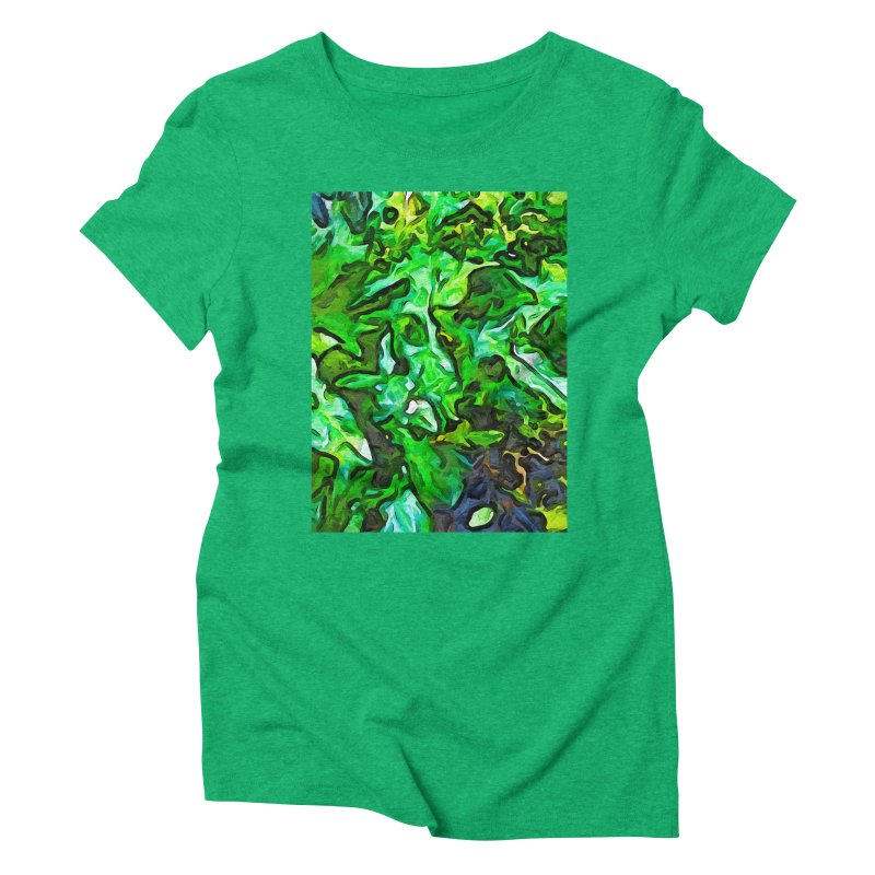 The Tropical Green Leaves with the Wings Women's Triblend T-Shirt by jackievano's Artist Shop