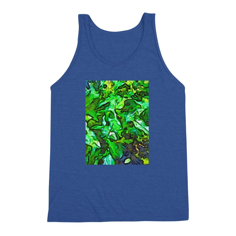 The Tropical Green Leaves with the Wings Men's Triblend Tank by jackievano's Artist Shop