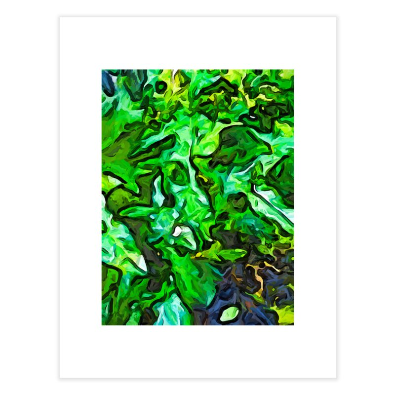 The Tropical Green Leaves with the Wings Home Fine Art Print by jackievano's Artist Shop