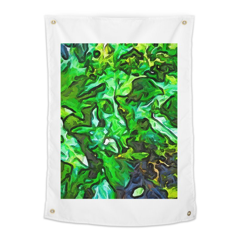 The Tropical Green Leaves with the Wings Home Tapestry by jackievano's Artist Shop