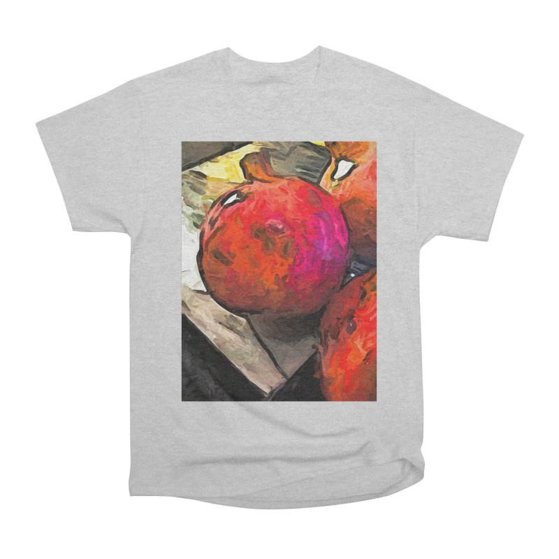 The Red Pomegranates on the Marble Chopping Board Men's Classic T-Shirt by jackievano's Artist Shop