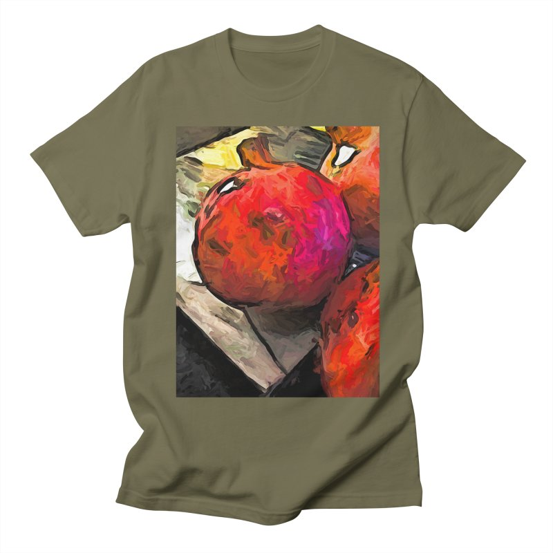 The Red Pomegranates on the Marble Chopping Board Women's Unisex T-Shirt by jackievano's Artist Shop