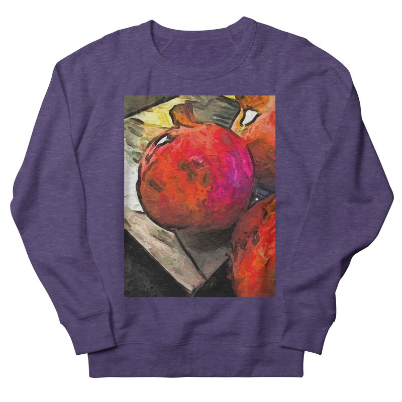 The Red Pomegranates on the Marble Chopping Board Women's Sweatshirt by jackievano's Artist Shop