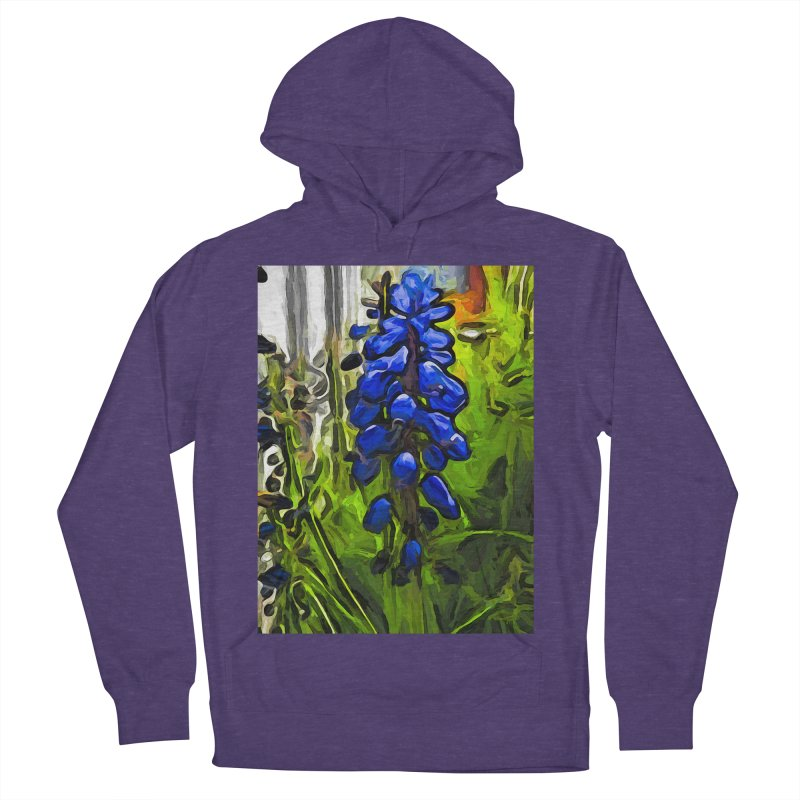 The Cobalt Blue Flowers and the Long Green Grass Women's Pullover Hoody by jackievano's Artist Shop