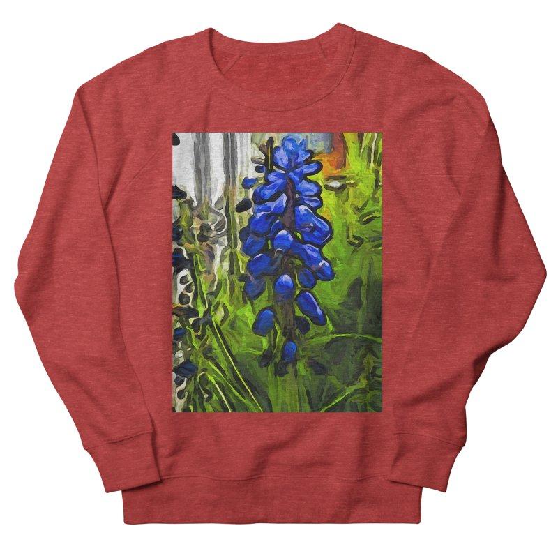 The Cobalt Blue Flowers and the Long Green Grass Women's Sweatshirt by jackievano's Artist Shop