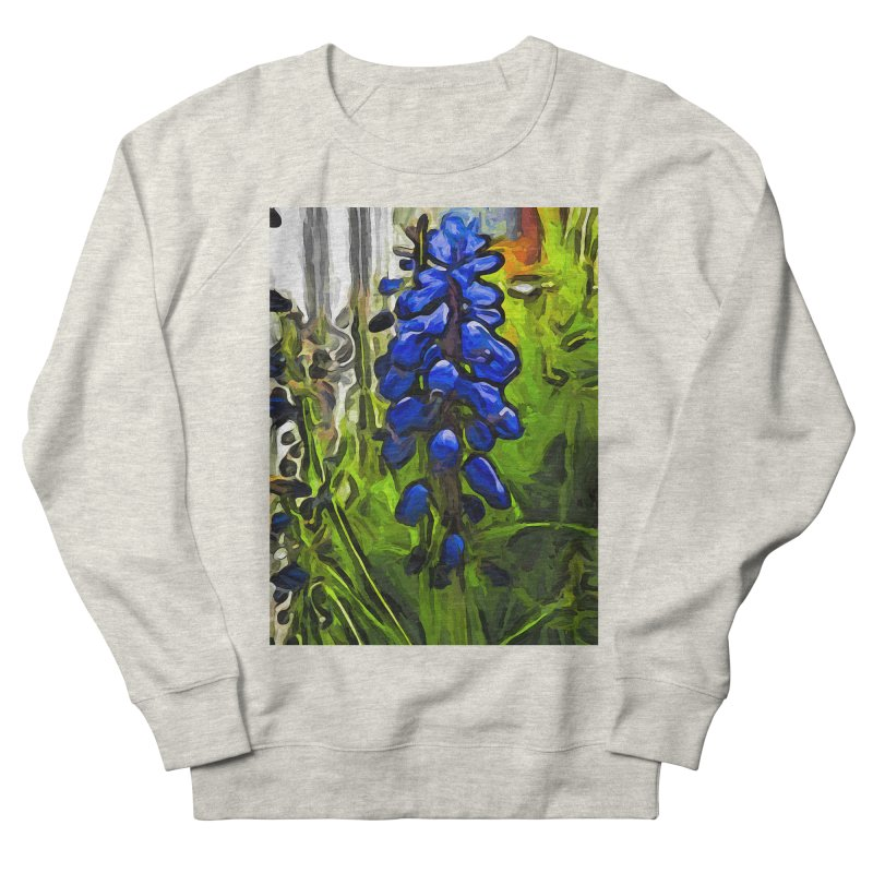 The Cobalt Blue Flowers and the Long Green Grass Men's Sweatshirt by jackievano's Artist Shop