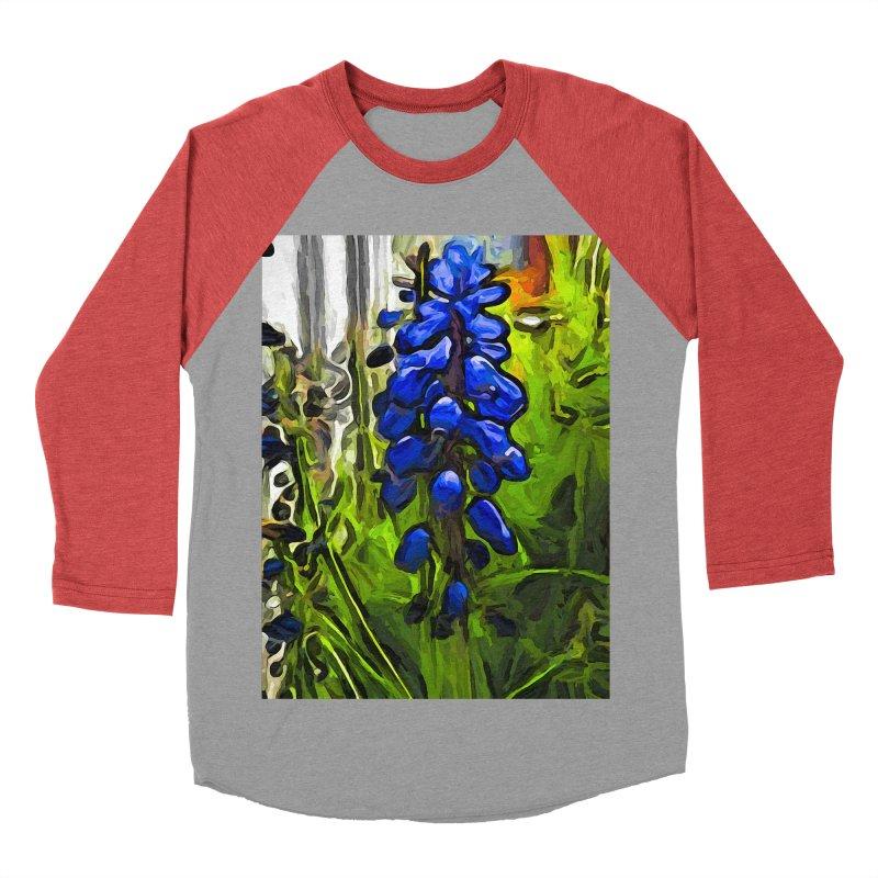 The Cobalt Blue Flowers and the Long Green Grass Women's Baseball Triblend T-Shirt by jackievano's Artist Shop