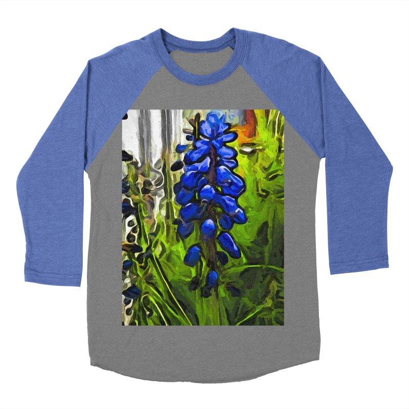 The Cobalt Blue Flowers and the Long Green Grass Men's Baseball Triblend T-Shirt by jackievano's Artist Shop