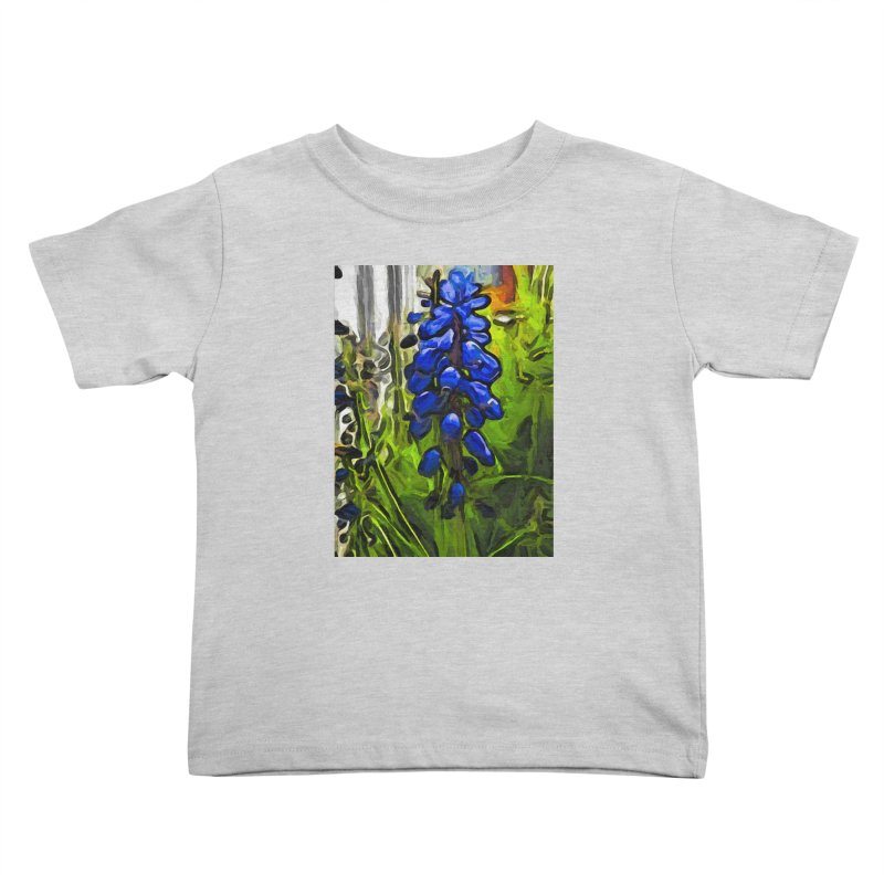 The Cobalt Blue Flowers and the Long Green Grass Kids Toddler T-Shirt by jackievano's Artist Shop