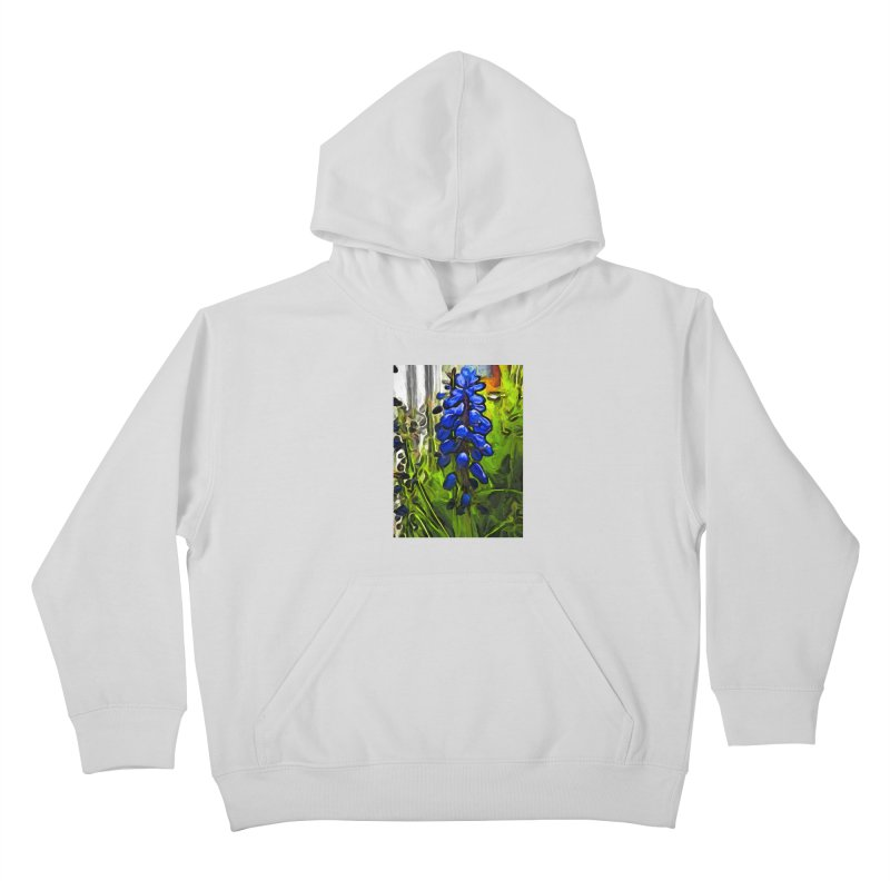 The Cobalt Blue Flowers and the Long Green Grass Kids Pullover Hoody by jackievano's Artist Shop