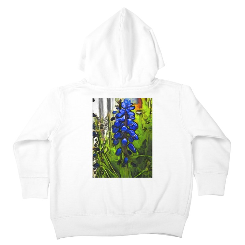 The Cobalt Blue Flowers and the Long Green Grass Kids Toddler Zip-Up Hoody by jackievano's Artist Shop