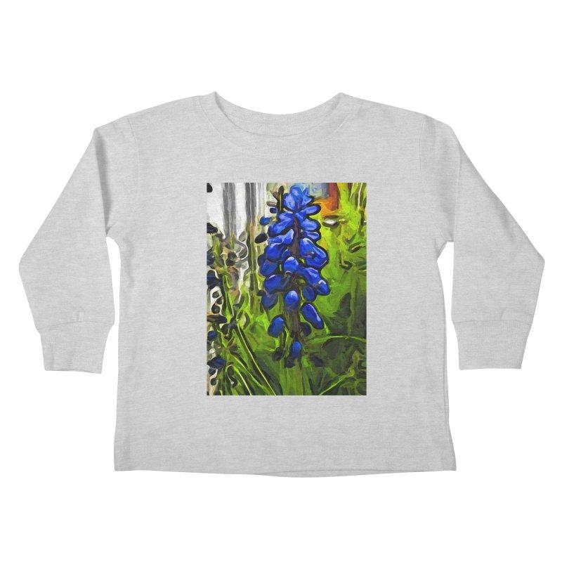 The Cobalt Blue Flowers and the Long Green Grass Kids Toddler Longsleeve T-Shirt by jackievano's Artist Shop