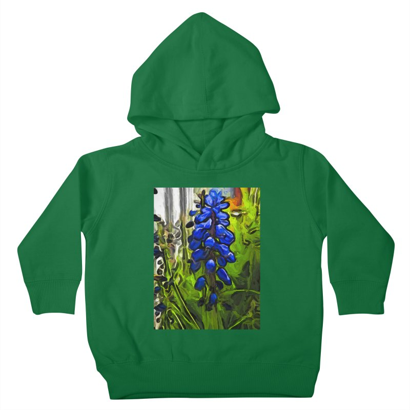 The Cobalt Blue Flowers and the Long Green Grass Kids Toddler Pullover Hoody by jackievano's Artist Shop