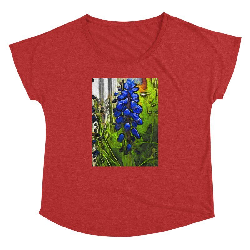 The Cobalt Blue Flowers and the Long Green Grass Women's Dolman by jackievano's Artist Shop