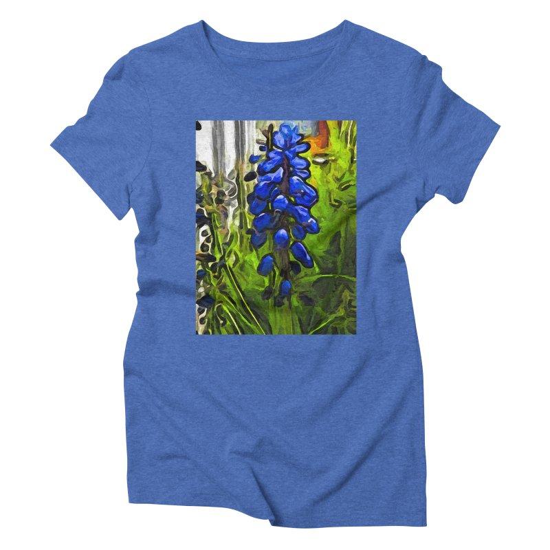 The Cobalt Blue Flowers and the Long Green Grass Women's Triblend T-Shirt by jackievano's Artist Shop