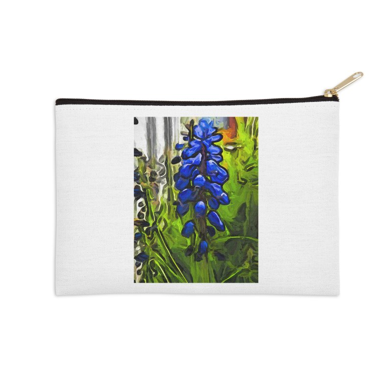 The Cobalt Blue Flowers and the Long Green Grass Accessories Zip Pouch by jackievano's Artist Shop