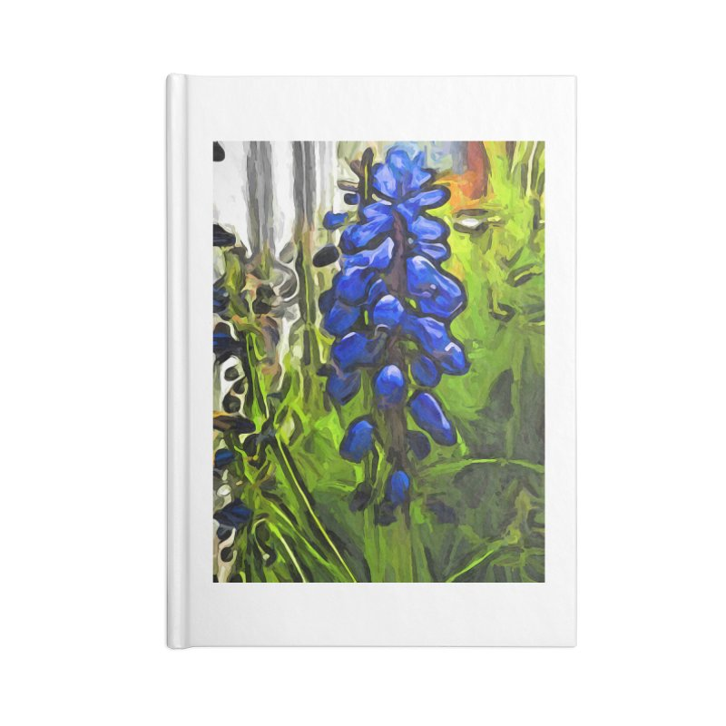 The Cobalt Blue Flowers and the Long Green Grass Accessories Notebook by jackievano's Artist Shop