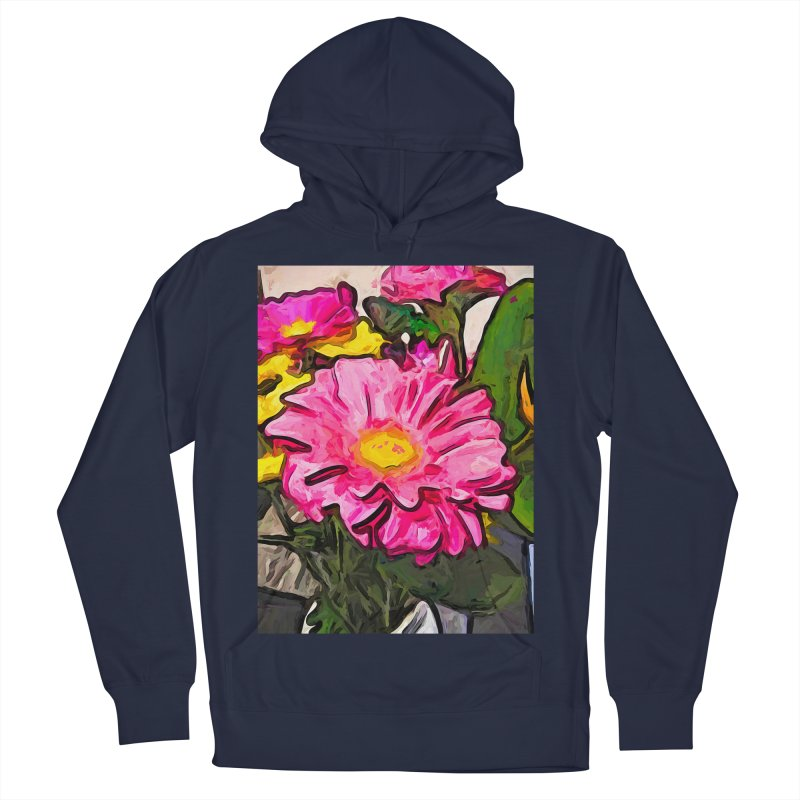 The Pink and Yellow Flowers with the Big Green Leaves Women's Pullover Hoody by jackievano's Artist Shop