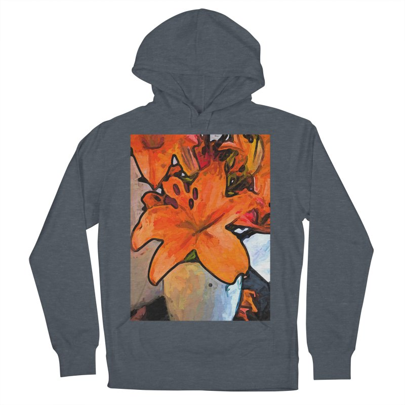The Orange Lilies in the Mother of Pearl Vase Women's Pullover Hoody by jackievano's Artist Shop